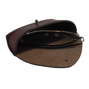 Steurer & Co. Sun Glass Case Bourbon Front, Eye Glass Case, Handmade Leather Bags and Accessories