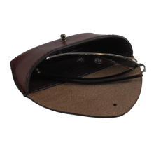 Load image into Gallery viewer, Steurer & Co. Sun Glass Case Open, Eye Glass Case, Handmade Leather Bags and Accessories