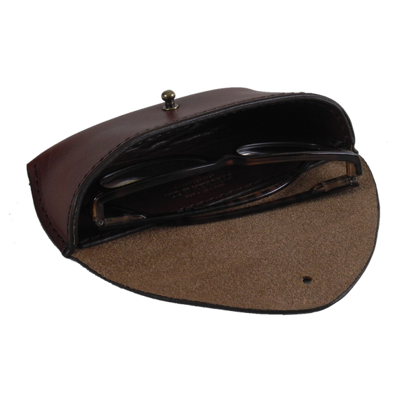 Steurer & Co. Sun Glass Case Open, Eye Glass Case, Handmade Leather Bags and Accessories