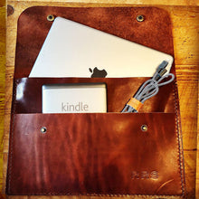 Load image into Gallery viewer, Leather Ipad Folio, Leather Tablet Folio, Hand Stitched Leather, Made in Kentucky, Hand Crafted Leather Totes, Satchels & Accessories, Steurer & Co.