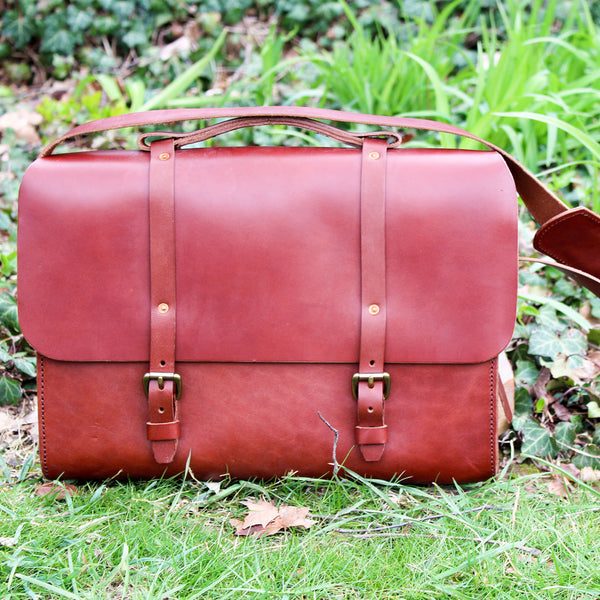 Steurer & Co. Lincoln Satchel, Steurer, SteurerJacoby, Vintage Leather Golfbag, Satchel, Handmade Leather Bags, Leather Satchel, Louisville, Ky