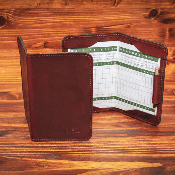 Steurer & Co. Leather Golf Score Holder. Made in Kentucky
