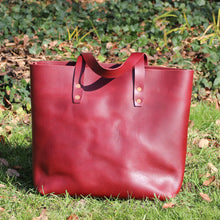 Load image into Gallery viewer, Steurer & Co. Mason Everyday Tote, Steurer, SteurerJacoby Leather Golfbag Designer, Totes, Handmade Leather Tote, Leather Tote