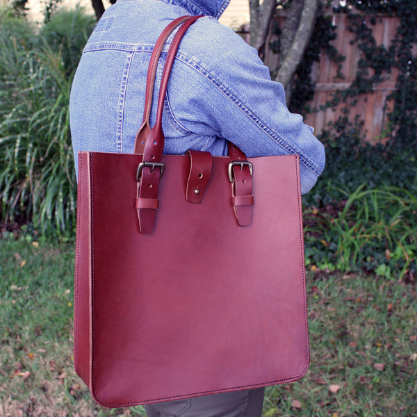Steurer & Co., Madison Deluxe Tote, Steurer, SteurerJacoby, Vintage Leather Golfbag, Satchel, Handmade Leather Bags, Leather Tote