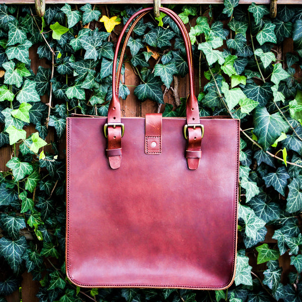 Steurer & Co. Leather Tote, Veggie Tanned Leather, Steurer & Jacoby Golf Bag Designer, Handmade Leather Bags and Accessories