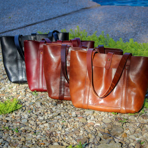Marshall Tote, Leather Tote, Steurer & Co. Louisville, KY, Leather