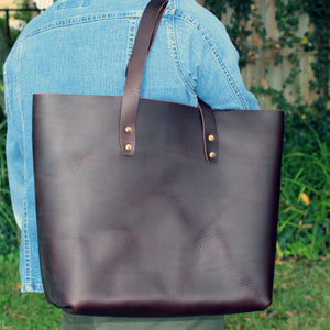 Steurer & Co., Mason Everyday Tote, Steurer, SteurerJacoby, Vintage Leather Golfbag, Totes, Handmade Leather Tote, Leather Tote