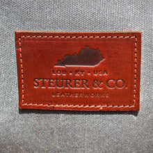 Load image into Gallery viewer, Steurer & Co. Cumberland Overnight Bag, Waxed Canvas. Martexin Original Wax, Handmade in Kentucky