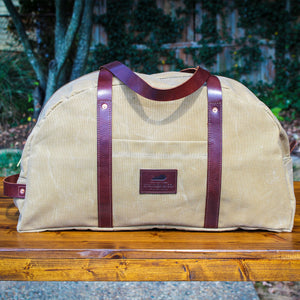 Steurer & Co. Cumberland Overnight Bag, Waxed Canvas. Martexin Original Wax, Handmade in Kentucky