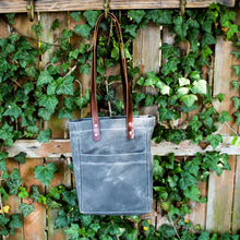 Load image into Gallery viewer, Steurer & Co. Waxed Canvas and Leather Market Tote, Handmade in USA, Made in Louisville, KY