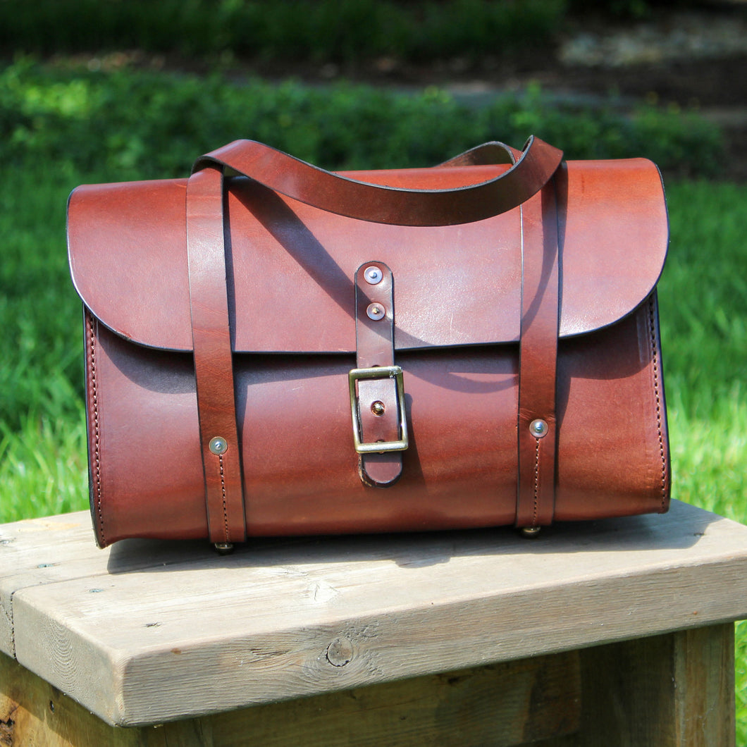 Porter Handbag, Leather Handbag, Steurer & Co., Made in Kentucky, Handmade Leather Bags