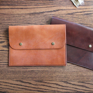 Leather Ipad Folio, Leather Tablet Folio, Hand Stitched Leather, Made in Kentucky, Hand Crafted Leather Totes, Satchels & Accessories, Steurer & Co.
