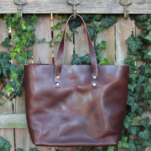 Load image into Gallery viewer, Steurer & Co. Mason Everyday Tote Veggie Tanned Thoroughbred, Totes, Handmade Leather Bags and Accessories