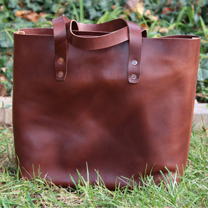 Steurer & Co. Mason Everyday Tote Veggie Tanned Thoroughbred, Totes, Handmade Leather Bags and Accessories