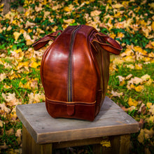 Load image into Gallery viewer, Steurer & Co. Vintage Bowling Bag, Leather Bowling Bag, Retro Bowling Bag, Sporting Goods, Brunswick,