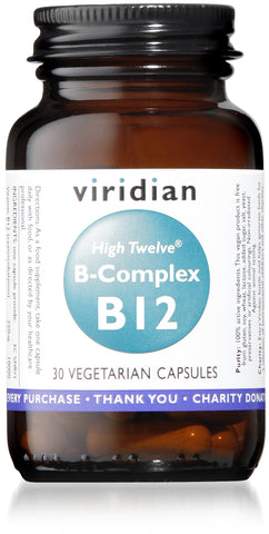 HIGH TWELVE™ Vitamin B12 with B-Complex (30 Veg Caps)