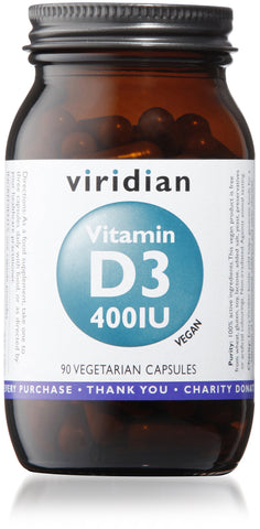 Vitamin D3 (Vegan) 400iu (90 Veg Caps)