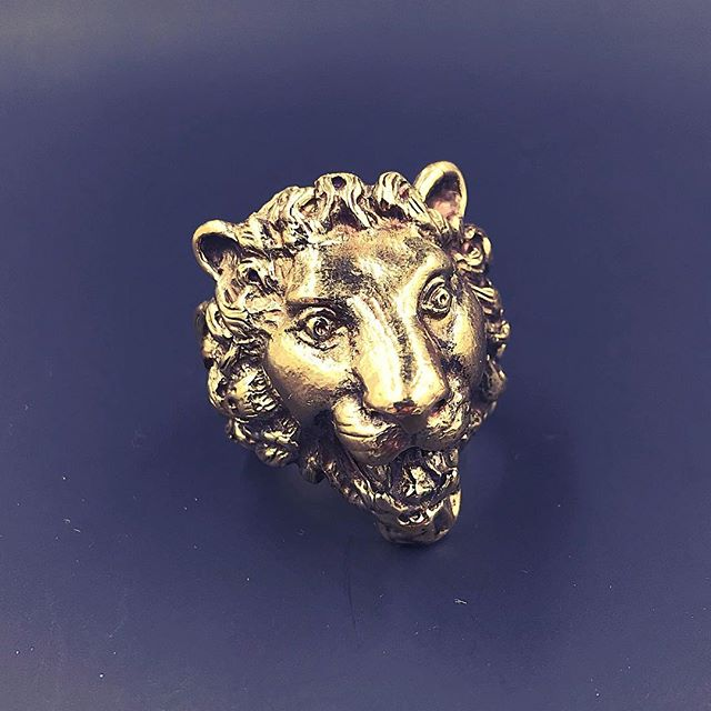 Leo Bronze Lion Ring - Our Little Secret Shop - Handmade Unique Jewellery