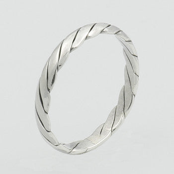 Sterling Silver Twisted Stackable Ring - Our Little Secret Shop - Handmade Unique Jewellery