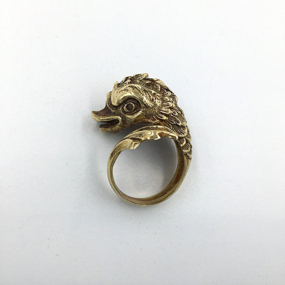 Baroque Bronze Dolphin Ring - Our Little Secret Shop - Handmade Unique Jewellery