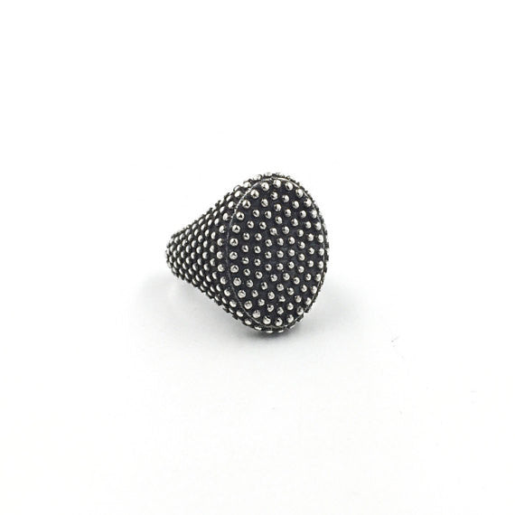Chevalier Granular Oval Ring - Our Little Secret Shop - Handmade Unique Jewellery