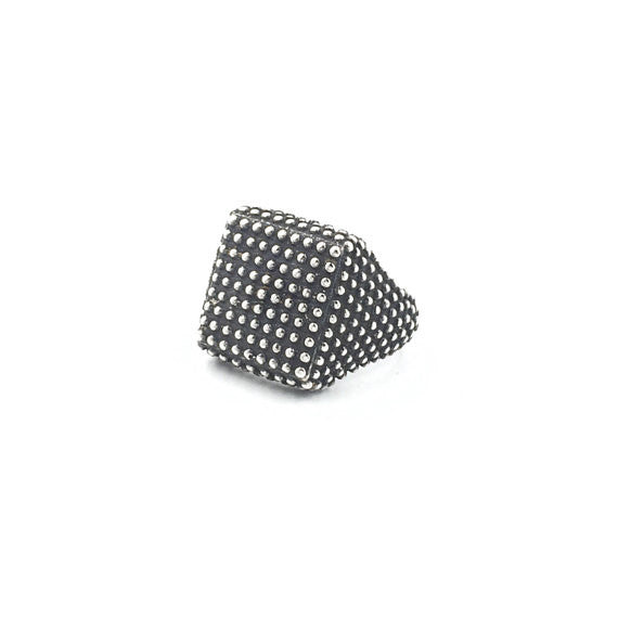 Chevalier Granular Square Ring - Our Little Secret Shop - Handmade Unique Jewellery