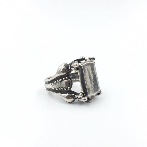 Emerald Cut Ring - Our Little Secret Shop - Handmade Unique Jewellery