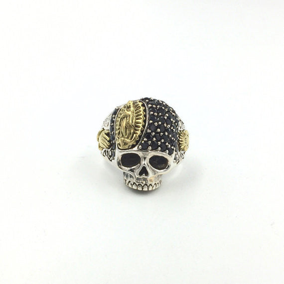 Guadalupe Black Skull Ring - Our Little Secret Shop - Handmade Unique Jewellery