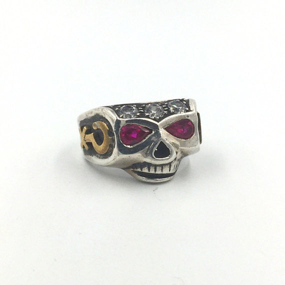 Johnny Skull Gemstone Ring - Our Little Secret Shop - Handmade Unique Jewellery