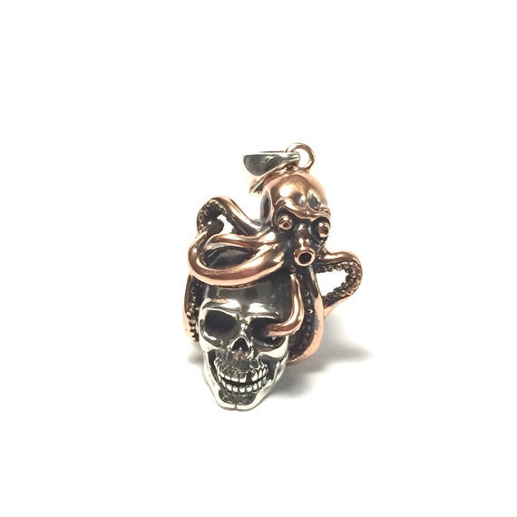Octopus Skull Pendant - Our Little Secret Shop - Handmade Unique Jewellery