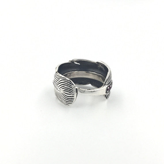 Peacock Feather Ring - Our Little Secret Shop - Handmade Unique Jewellery