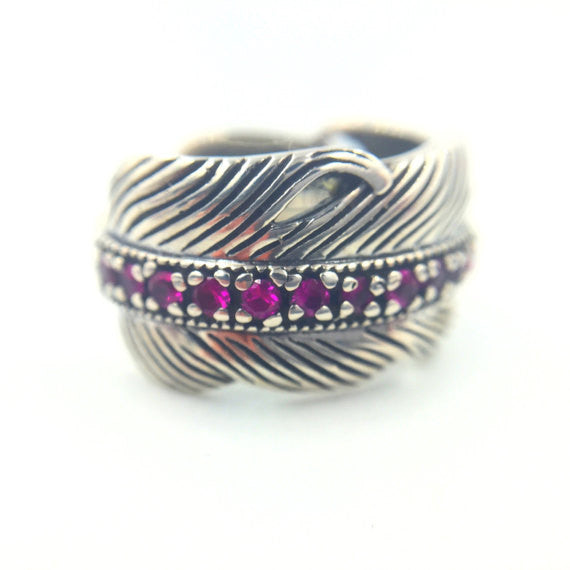Peacock Feather Ring - Our Little Secret Shop