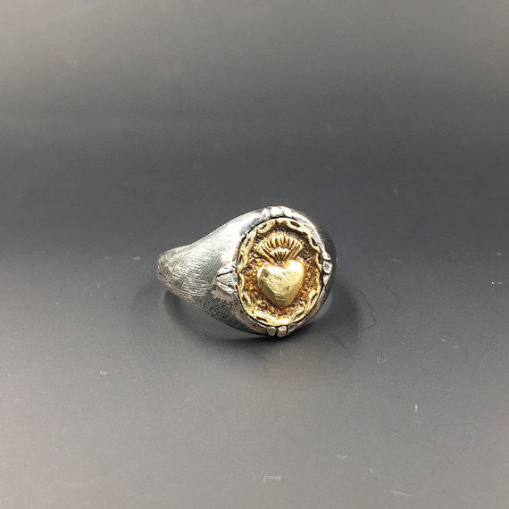 Sacred Small Heart Ring - Our Little Secret Shop