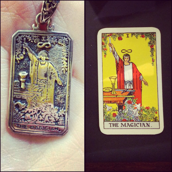 The Magician Tarot Pendant with Chain - Our Little Secret Shop