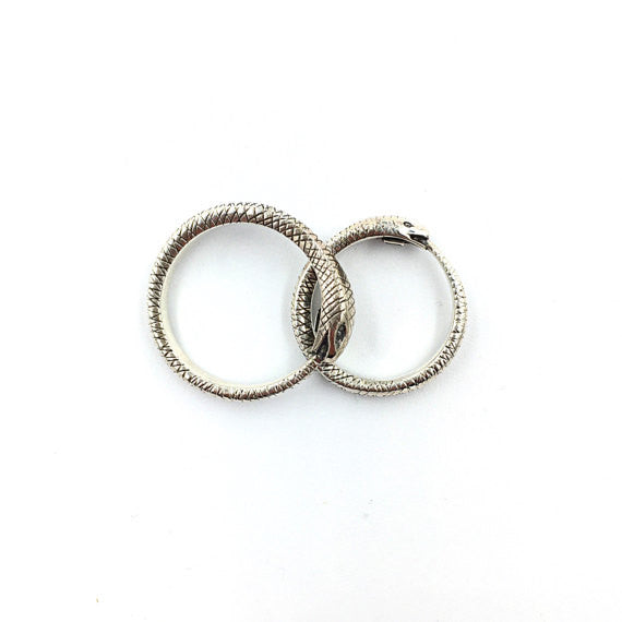 Uroburos Woman Ring Band - Our Little Secret Shop - Handmade Unique Jewellery