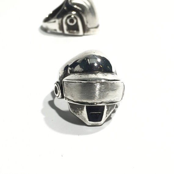 Daft Punk Ring - Silver - Our Little Secret Shop - Handmade Unique Jewellery