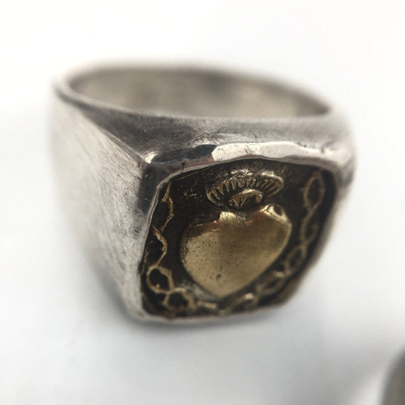 Maria Square Heart Ring - Our Little Secret Shop - Handmade Unique Jewellery