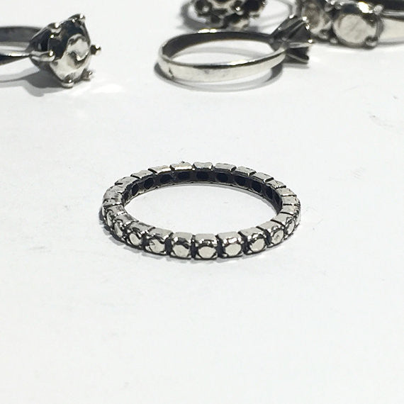 Eternity Silver Ring - Our Little Secret Shop - Handmade Unique Jewellery