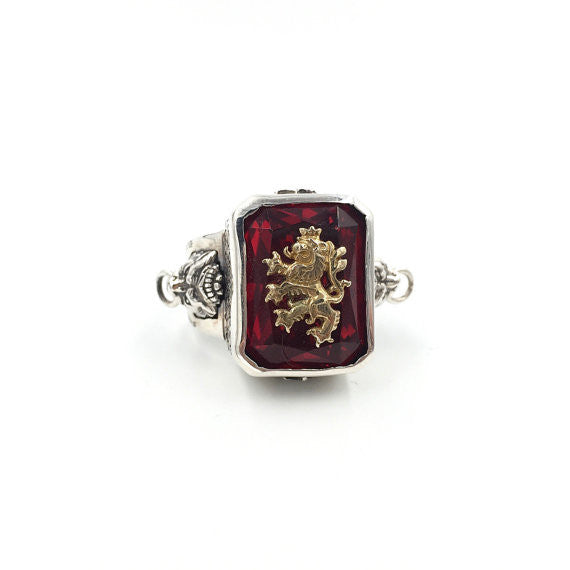 Judah Lion Ruby Ring - Our Little Secret Shop - Handmade Unique Jewellery