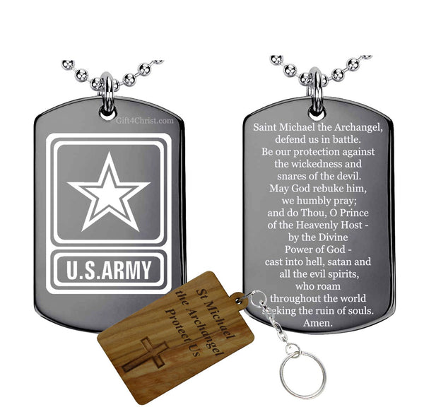 Army and St michael Prayer Pendant