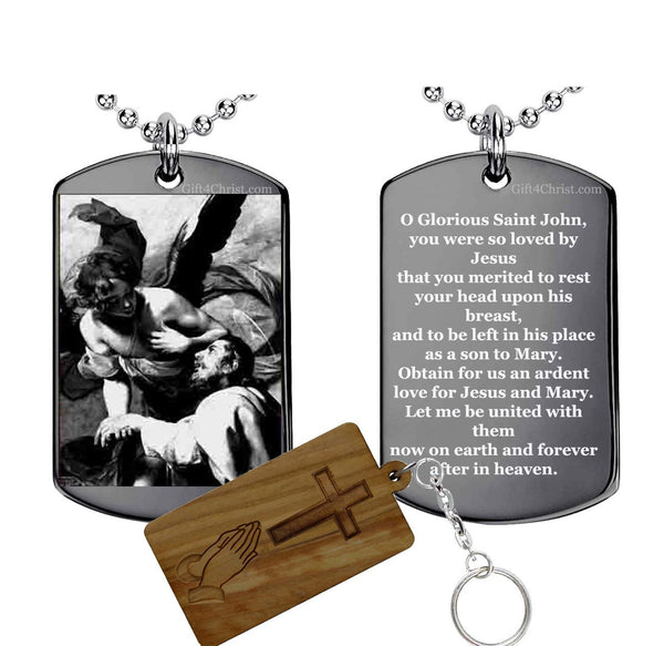 Prayer to St John the Evangelist Pendant
