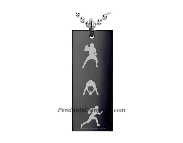 Football #20 Rectangle Pendant-Necklace