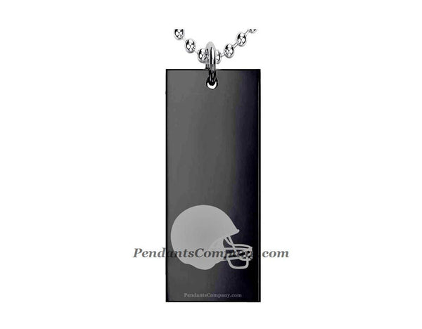 Football #14 Rectangle Pendant-Necklace