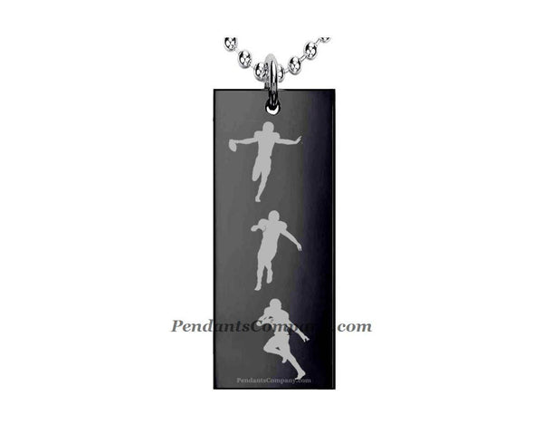 Football #19 Rectangle Pendant-Necklace