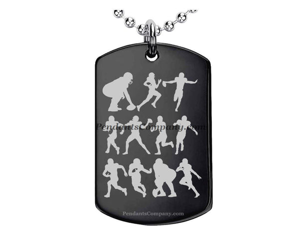 Football #12 Pendant-Necklace