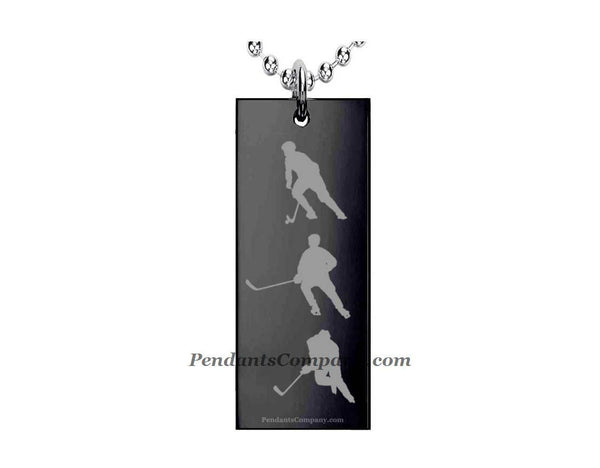 Hockey #9 Rectangle Pendant-Necklace