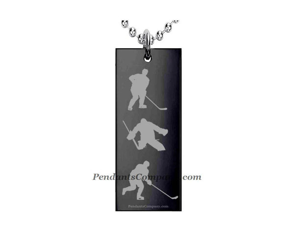 Hockey #10 Rectangle Pendant-Necklace