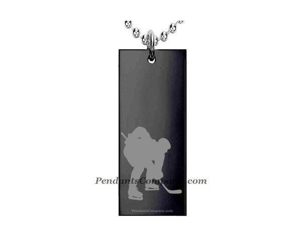 Hockey #11 Rectangle Pendant-Necklace