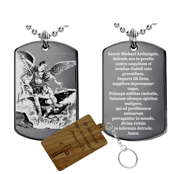 Latin Prayer to St.Michael the Archangel Pendant