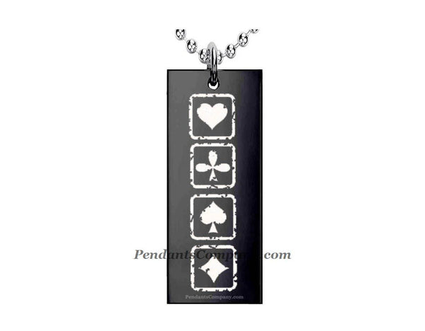 Cards sign Rectangle Pendant-Necklace